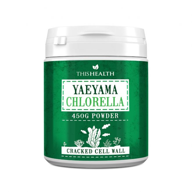 Chlorella Powder 450g – High in Chlorophyll, Iron, Protein and Amino Acids – 150, 250 or 450g Japanese Yaeyama Chlorella Vulgaris Powder – Chlorella Supplement for Fitness and Nutrition – Cracked Cell Chlorella
